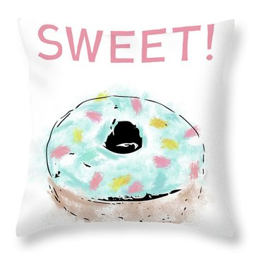 Sweet Donut- Art By Linda Woods Throw Pillow