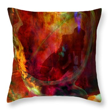 Throw Pillow featuring the digital art Sweet Dream by Johnny Hildingsson