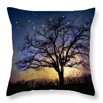 Sweet Dreams Throw Pillow by Iris Greenwell