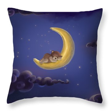 Throw Pillow featuring the drawing Sweet Dreams by Julia Art