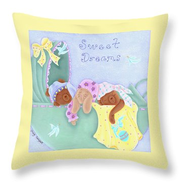 Sweet Dreams Throw Pillow by Tracy Campbell