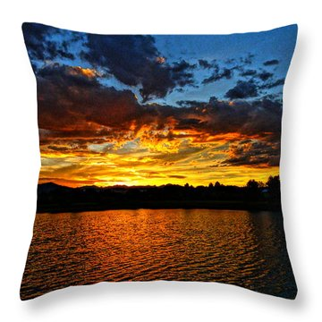 Sweet End Of Day Throw Pillow
