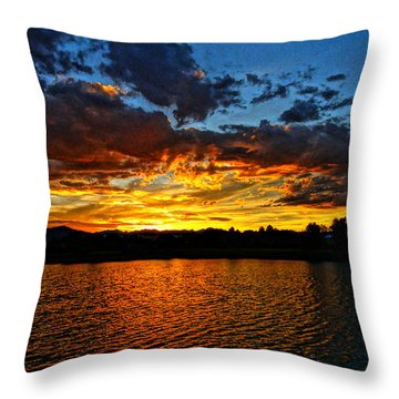 Sweet End Of Day Throw Pillow by Eric Dee