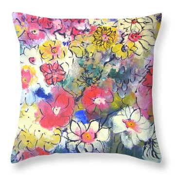 Throw Pillow featuring the painting Sweet Fragrance by Gary Smith