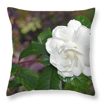 Sweet Gardenia Throw Pillow