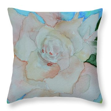 Throw Pillow featuring the painting Sweet Gardenia by Beverley Harper Tinsley