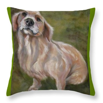 Sweet Golden Throw Pillow