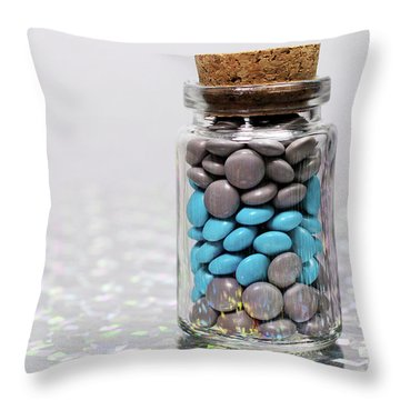 Sweet Happy Pills Throw Pillow