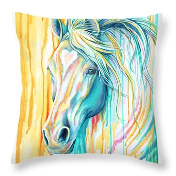 Sweet Heart Horse Throw Pillow