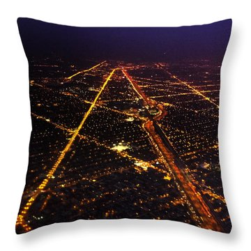 Sweet Home Chicago Throw Pillow by Tracey Rees