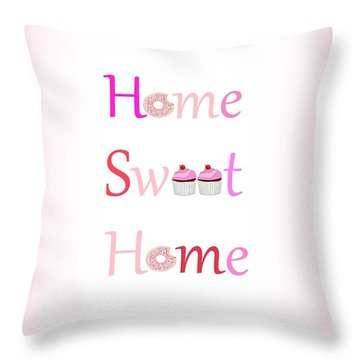 Sweet Home - Typography Throw Pillow