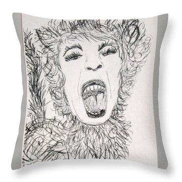 Sweet Kitty Throw Pillow