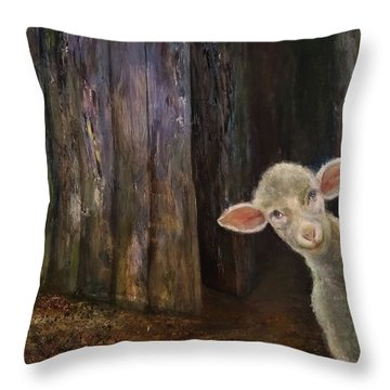 Sweet Lamb Throw Pillow
