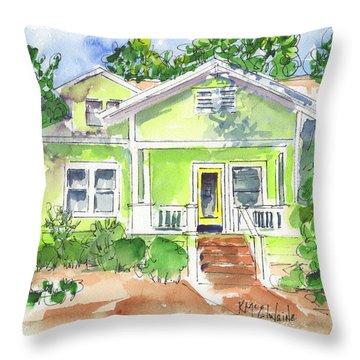 Sweet Lemon Inn Throw Pillow by Kathleen McElwaine