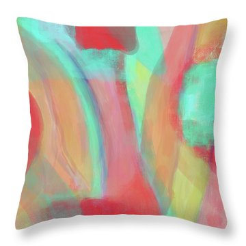 Throw Pillow featuring the digital art Sweet Little Abstract by Susan Stone