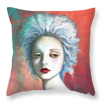 Throw Pillow featuring the painting Sweet Love Remembered by Terry Webb Harshman