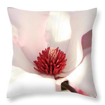 Sweet Magnolia Throw Pillow by Carol Groenen