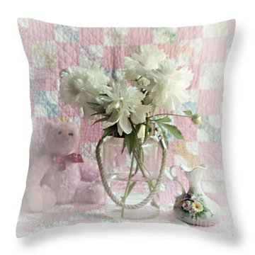 Sweet Memories Of Four Generations Throw Pillow