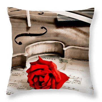 Sweet Music Throw Pillow by Don Schwartz