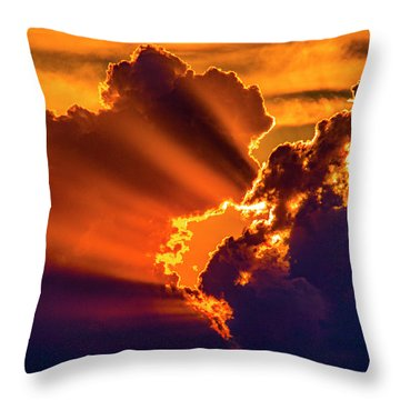 Sweet Nebraska Crepuscular Rays 010 Throw Pillow