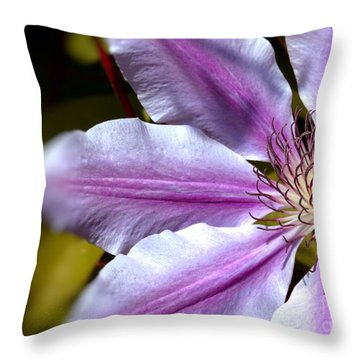 Sweet Nelly Clematis Throw Pillow