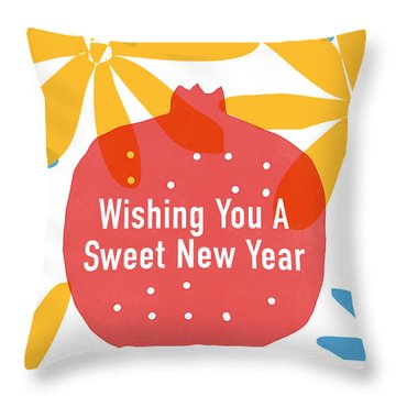 Sweet New Year Card- Art By Linda Woods Throw Pillow