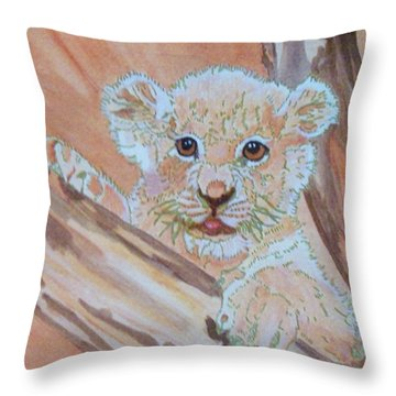 Throw Pillow featuring the painting Sweet One by Connie Valasco