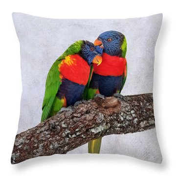 Sweet Pair Throw Pillow