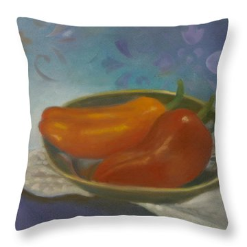 Sweet Peppers Throw Pillow