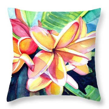 Sweet Plumeria 2 Throw Pillow