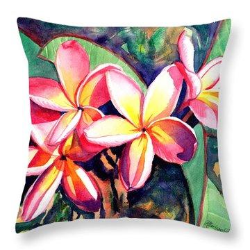 Sweet Plumeria Throw Pillow