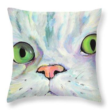 Sweet Puss Throw Pillow