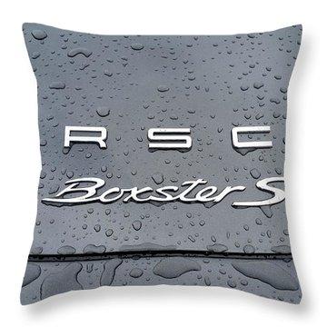 Rain Drops On A Porsche Boxster S Throw Pillow