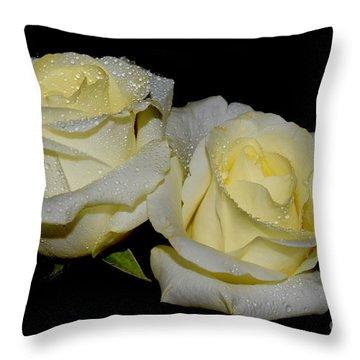Friendship Roses Throw Pillow