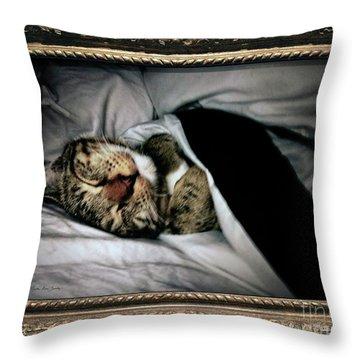 Throw Pillow featuring the photograph Sweet Simba Photo A8117 by Mas Art Studio