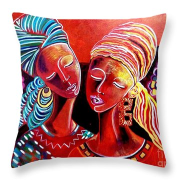 Sweet Sisters Throw Pillow