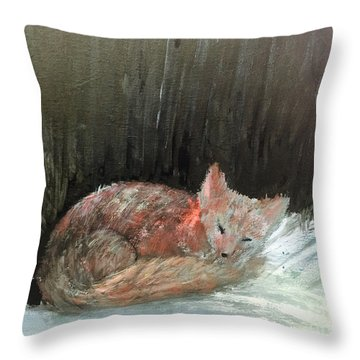 Sweet Slumber Throw Pillow by Trilby Cole