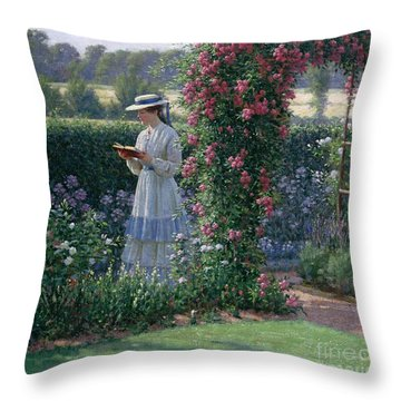 Sweet Solitude Throw Pillow by Edmund Blair Leighton