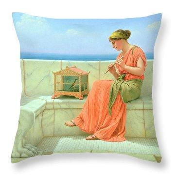 Sweet Sounds Throw Pillow by John William Godward