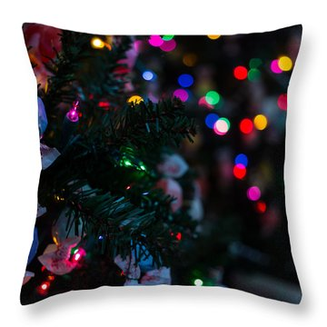 Sweet Sparkly Throw Pillow