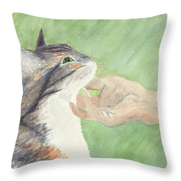 Throw Pillow featuring the painting Sweet Spot by Kathryn Riley Parker