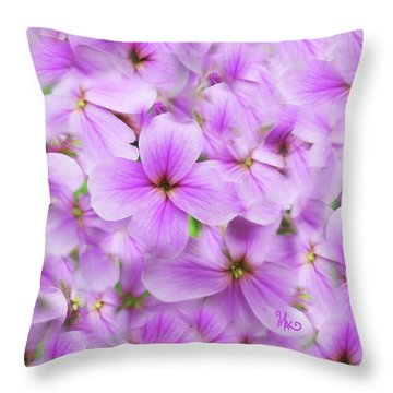 Sweet Spring Meadow Flox Throw Pillow