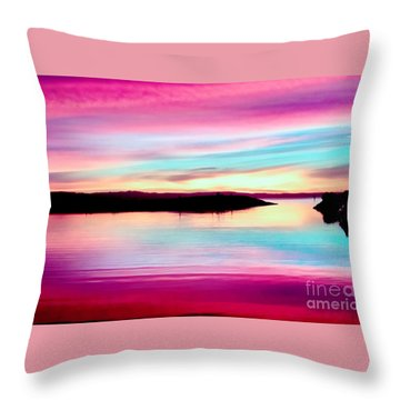 Sweet Sunset Throw Pillow
