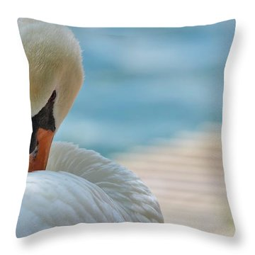 Sweet Swan Throw Pillow
