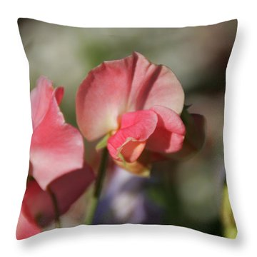 Sweet Sweet-peas Throw Pillow