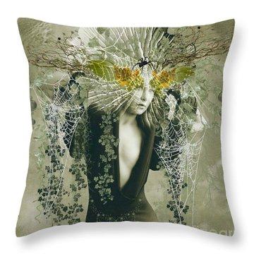 Sweet Webs Of Design Throw Pillow