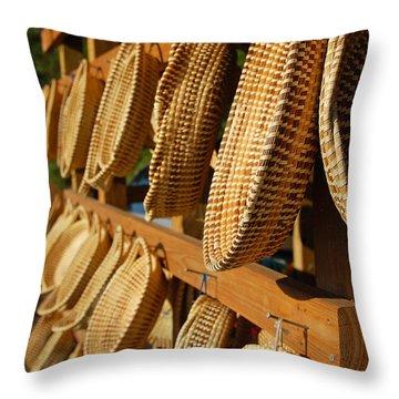 Sweetgrass Baskets Throw Pillow