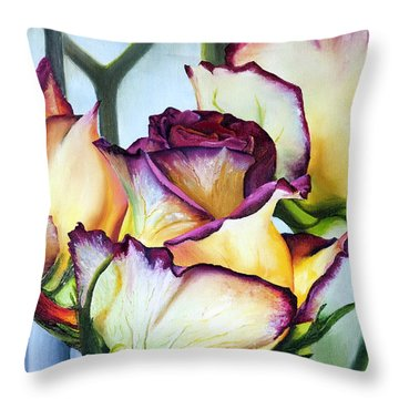 Sweetheart Roses Throw Pillow