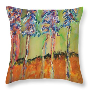 Sweetheart Hill Throw Pillow by Pat Saunders-White