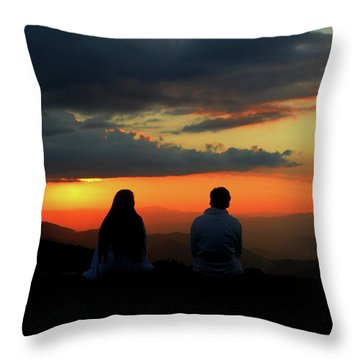 Throw Pillow featuring the photograph Sweetheart Sunset by Jessica Brawley